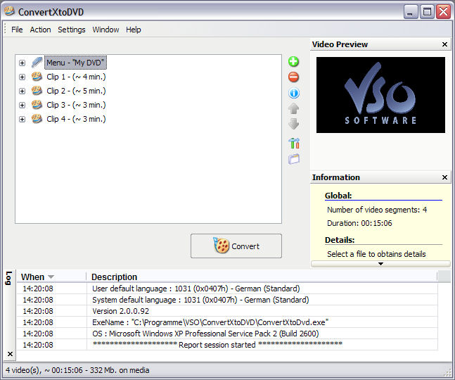 Screenshot of ConvertXtoDVD