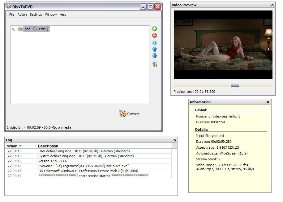 DIVX2DVD 2 1 99 19 50 + Serial preview 0