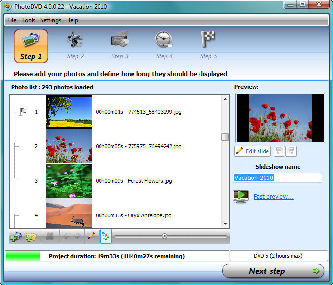 PhotoDVD Screen shot