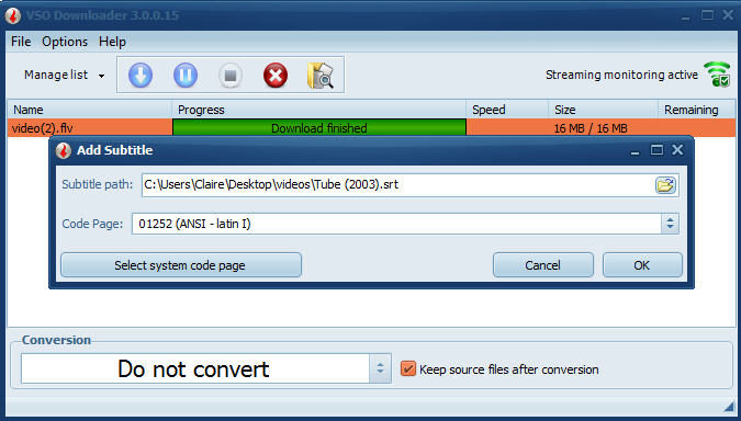 How to add subtitles to your videos with VSO Downloader : VSO Downloader