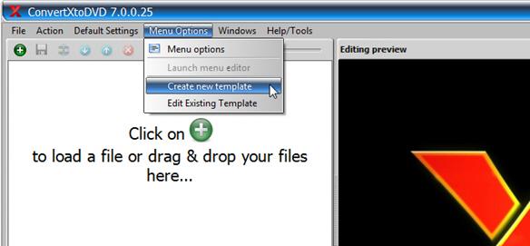 open menu editor