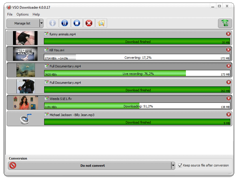 Click to view VSO Video Downloader 4.5.0.16 screenshot