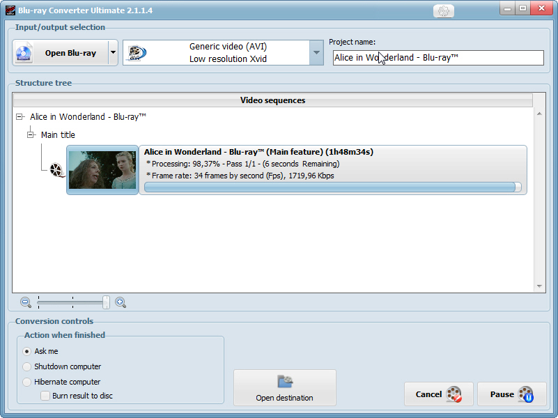 VSO Blu-ray Converter Ultimate Screenshot