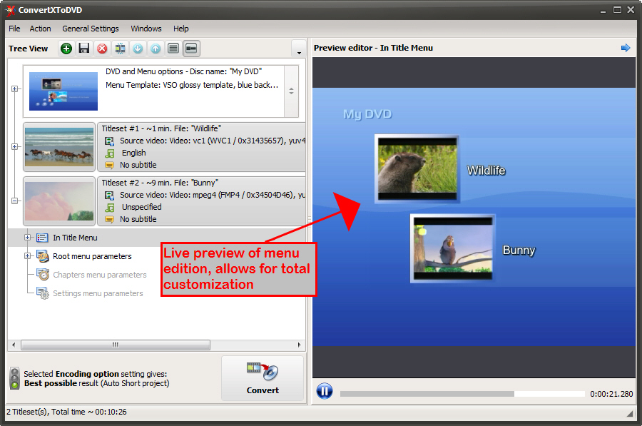 ConvertXtoDVD Screenshot