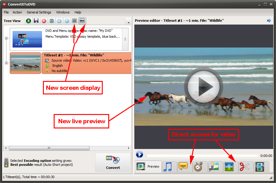 Click to view ConvertXtoDVD 5.1.0.14 screenshot