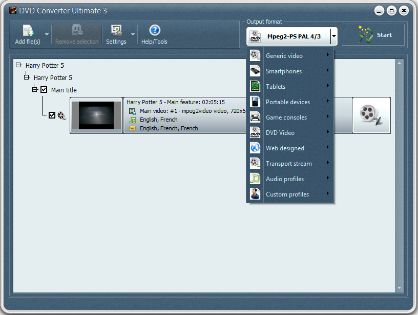 Click to view DVD Converter by VSO 1.4.0.8 screenshot