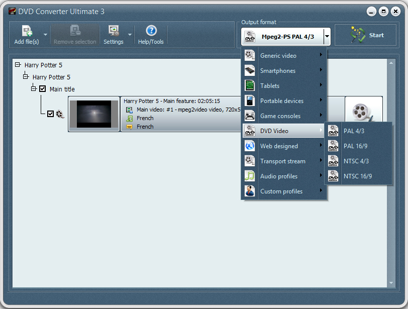 Click to view DVD to DVD 2.1.1.34 screenshot