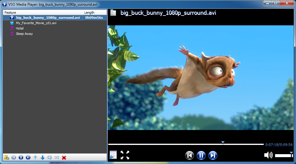 VSO Media Player Version 0.2.1.400
