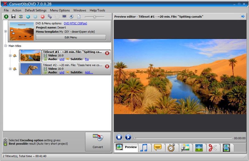 ConvertXtoDVD 7.0.0.40 Screen shot