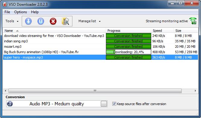 برنامج تنزيل الفيديو من جميع مواقع الفيديو على الإنترنت VSO downloader
